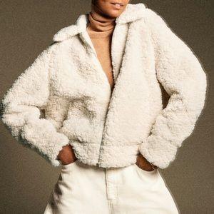 Zara short shearling jacket